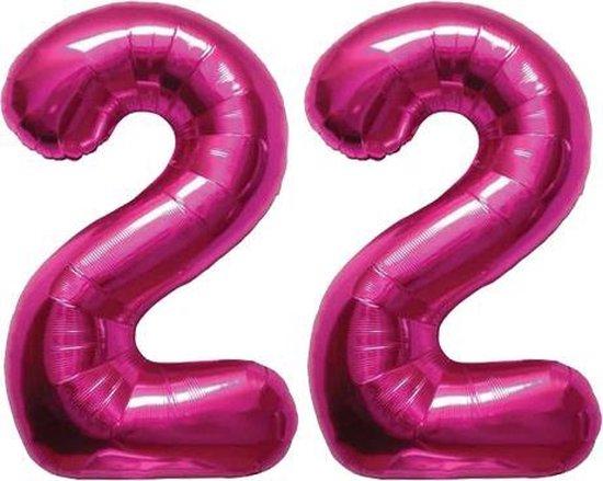 Cijfer 22 Magenta Helium 86 cm Excl. helium
