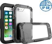 Apple iPhone 7 Plus - Waterdicht Hoesje Zwart IP68 Certifering voor het Zwemmen en Skiën tot 10 meter Waterproof - Heavy Armor Beschermend Hoesje tegen Valschade