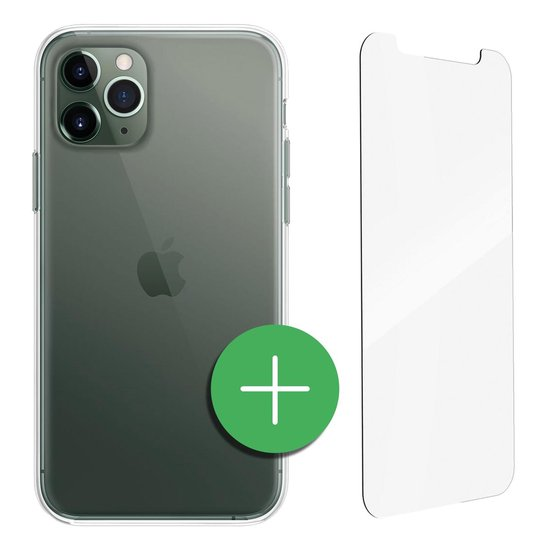 TORCE® iPhone 11 Pro Hoesje Case Transparant + Gratis Glass Screenprotector