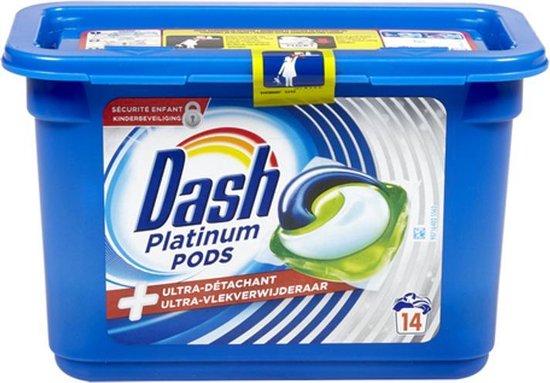 Dash Wasmiddel pods 3in1 Platinum Ultra vlekverwijderaar 14 pods