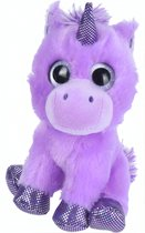 Tender Toys Knuffeleenhoorn 16 Cm Paars