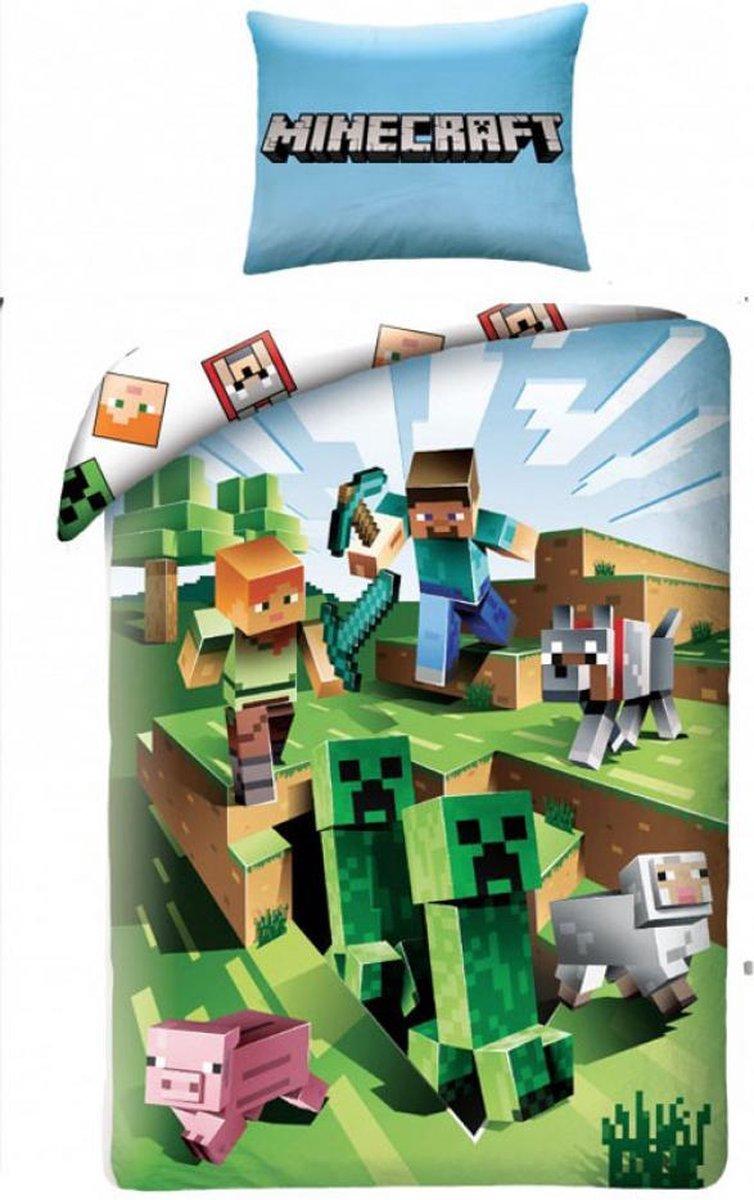 Minecraft Dekbed: 140x200/70x90 cm