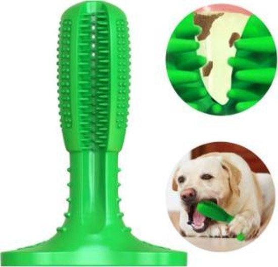 Hondentandenborstel voor honden - Groen - Gebitsreiniging - Tanden - Tandenborstel - Gebitsverzorging - Borstel - Tanden - Tegen stinkende bek - Hond - Voorkom tandsteen - Dierengebit - Gebit dieren - Dierverzorging - Dog - Teeth - Tandenpoetsen