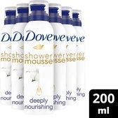 Dove Deeply Nourishing Doucheschuim - 6 x 200ml - Voordeelverpakking