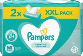 Pampers Babydoekjes Sensitive - duo-pack 160 stuks