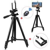 Smartphone Tripod Camera Statief 102 cm met Bluetooth Remote Shutter - Zwart