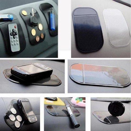 Anti-slip Pad - Mat - Dashboard - Auto - Telefoon - Antislipmat - Zwart - 1 stuk
