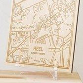 Kaart Heel -  Gegraveerde stadskaart Hood&Wood - Hout, A4