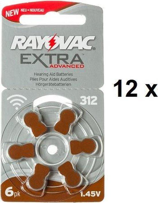 POWERDEAL: 72 STUKS RAYOVAC EXTRA ADVANCED 312, PR41