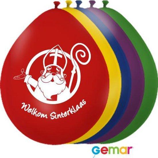 """Ballonnen """"Welkom Sinterklaas"""" Assortiment (Lucht)"""