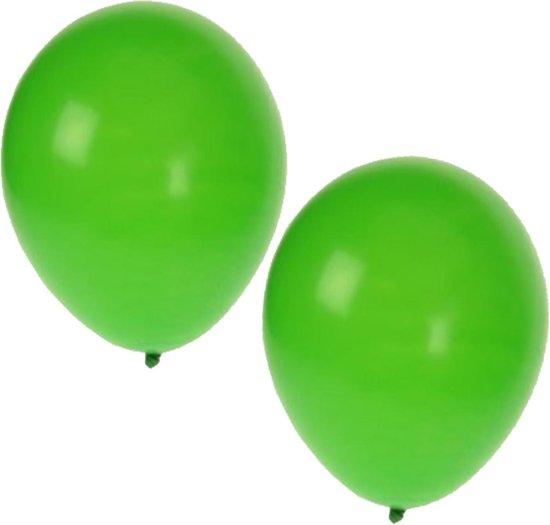25x groene ballonnen - 27 cm - ballon groen voor helium of lucht