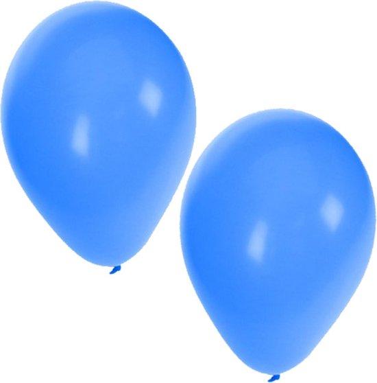 25x Blauwe ballonnen - 27 cm - ballon blauw voor helium of lucht