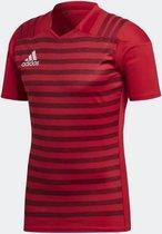 Adidas Rugbyshirt Rood tight fit maat XL