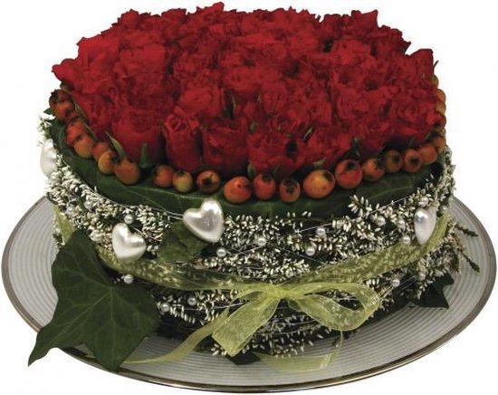 2x Ronde groene steekschuim/oase blokken nat 15 x 7 cm - Steekschuim voor echte bloemen - Kerststukjes maken