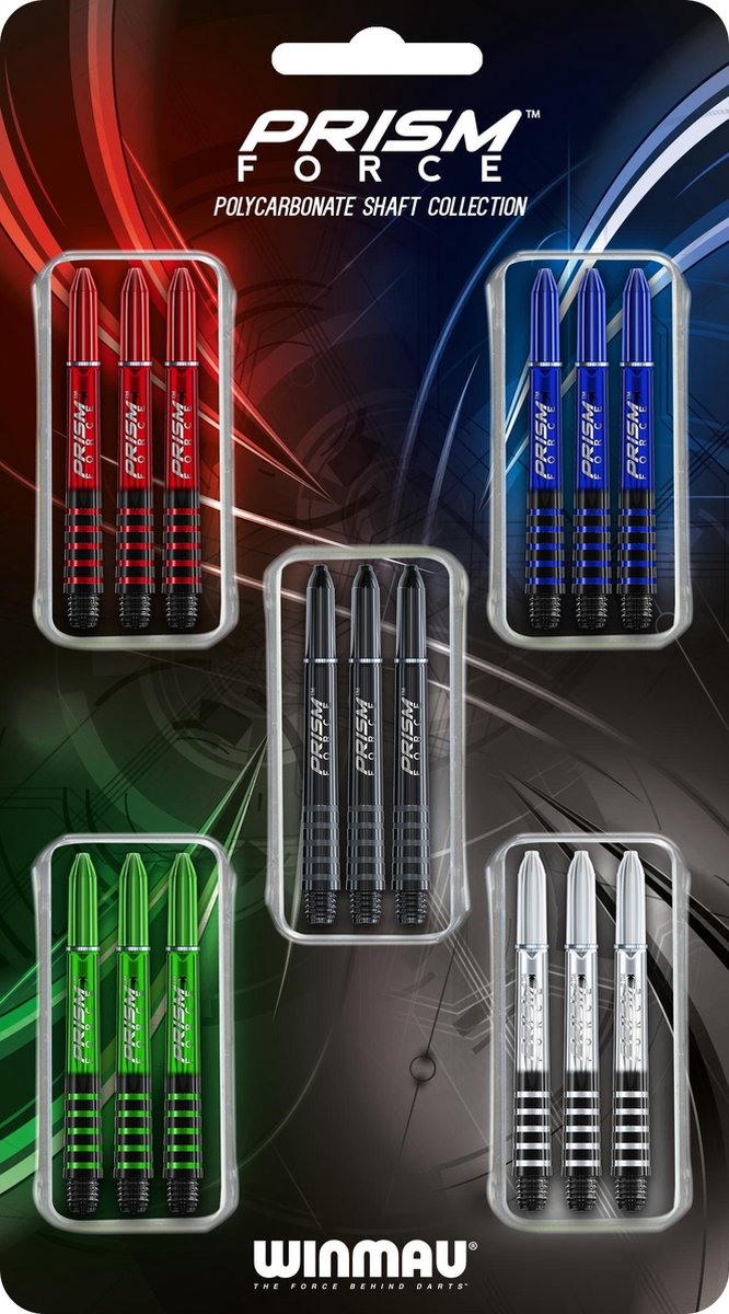Dart shafts Winmau Prism force collectie