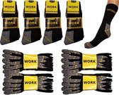 Work werksokken 20 paar zwart met grijs maat 43/46