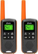Alecto FR-225 Set van twee walkie robuuste talkies - Tot 7 kilometer bereik - Spatwaterdicht/Oranje