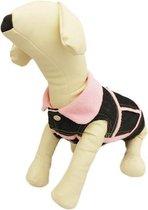Bodywarmer in de kleur roze van spijkerstof - XXL ( rug lengte 35 cm, borst omvang 52 cm, nek omvang 42 cm )