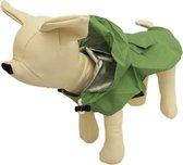 Honden regenpak groen - L-XL ( rug lengte 70 cm, borst omvang 72 cm, nek omvang 48 cm )