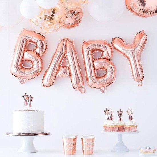 Folieballon Baby - Rosé Goud