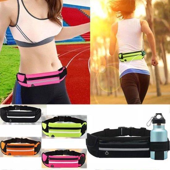 Heuptasje sport – running belt – hardloop heuptas - verstelbare buideltas - roze - Merkloos