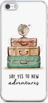 iPhone 5/5S/SE hoesje siliconen - Wanderlust   Apple iPhone 5/5s/SE case   TPU backcover transparant