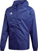 Adidas Core 18  Sportjas Heren - Dark Blue/White - Maat M