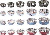 Bowl bella paw motive blue, 21cm stainless steel