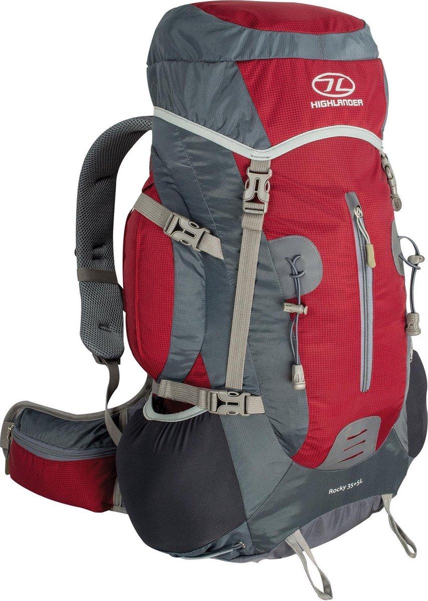 Highlander Backpack - Rugzak- rood/grijs
