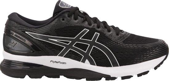 Asics Gel-Nimbus 21 Hardloopschoenen Heren Sportschoenen - Maat 45 - Mannen  - zwart/wit