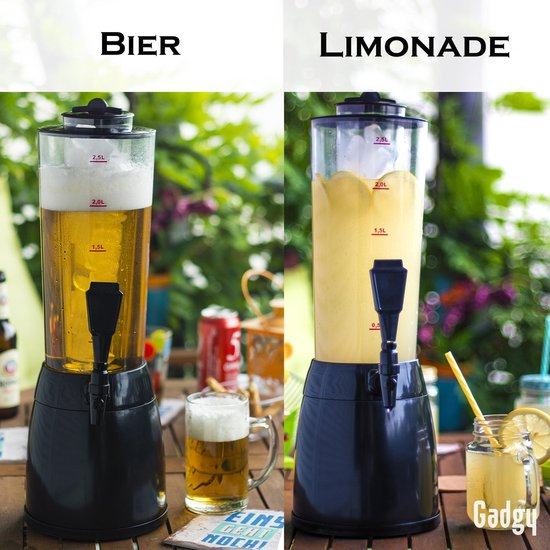 Gadgy Biertap met koel element – 3,5 ltr. - Biertoren – Bier Dispenser - Drankdispenser - 53 cm