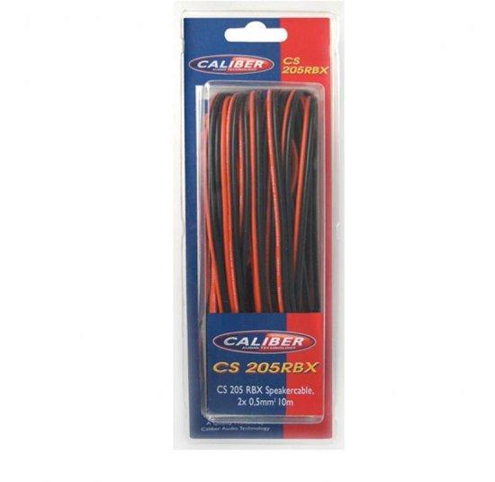 Caliber CS205RBX - Luidsprekerkabel- 2x0,5mm - 10m - Rood Zwart