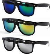 Wayfarer Zonnebrillen - 3 stuks - Zwart