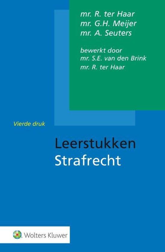 Boek cover Leerstukken strafrecht van R. Ter Haar (Hardcover)