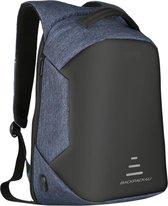 Rugzak - Anti theft - anti-diefstal - 32 liter - geschikt voor laptop - blauw - schooltas