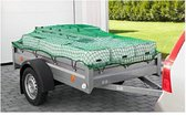 Premium Aanhangernet Met Elastisch Koord – 150x270cm - Zware Kwaliteit Aanhangwagen Net - Afdeknet - Afdekzeil - Aanhangwagennet - Aanhanger Net -Bavepa
