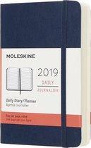 Moleskine agenda 2019 - 12 maanden - Dagelijks - Donkerblauw - Pocket - Soft cover