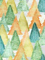 Composition Notebook College Ruled with Winter Wonderland Watercolor Pattern Cover Tara Newley