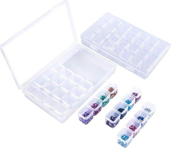 Afbeelding van Opbergs doos - Diamond painting - Bakjes - Sorteerdoos - 28 vakjes speelgoed
