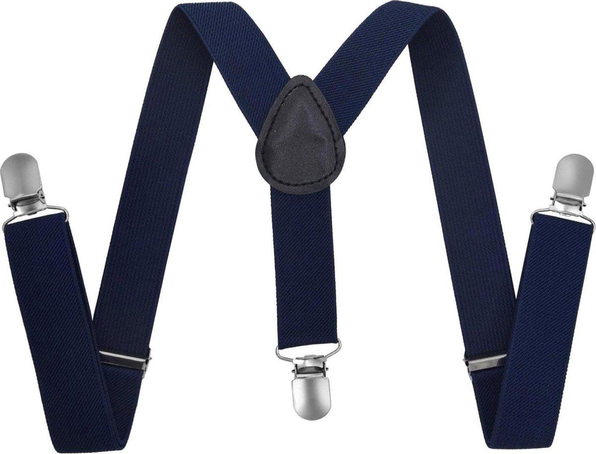Fako Fashion  - Kinder Bretels - Effen - 65cm - Navy Blauw