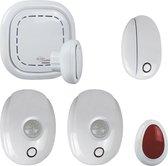 ELRO Connects SF400A Alarm Kit - Complete Set met K1 Connector, 2 Bewegingsmelders, Raam/deur Contact en Paniekknop - Wit