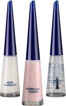 Herome French Manicure Set Pink - 3 x10 ml - In Drie Stappen Een Complete French Manicure Met Een Frisse en Natuurlijke Uitstraling