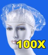 Elastische Haarnetje - Wegwerp Douchemuts / Haarnet / Douchekapje - Shower Cap Haarwas Kap 100 X