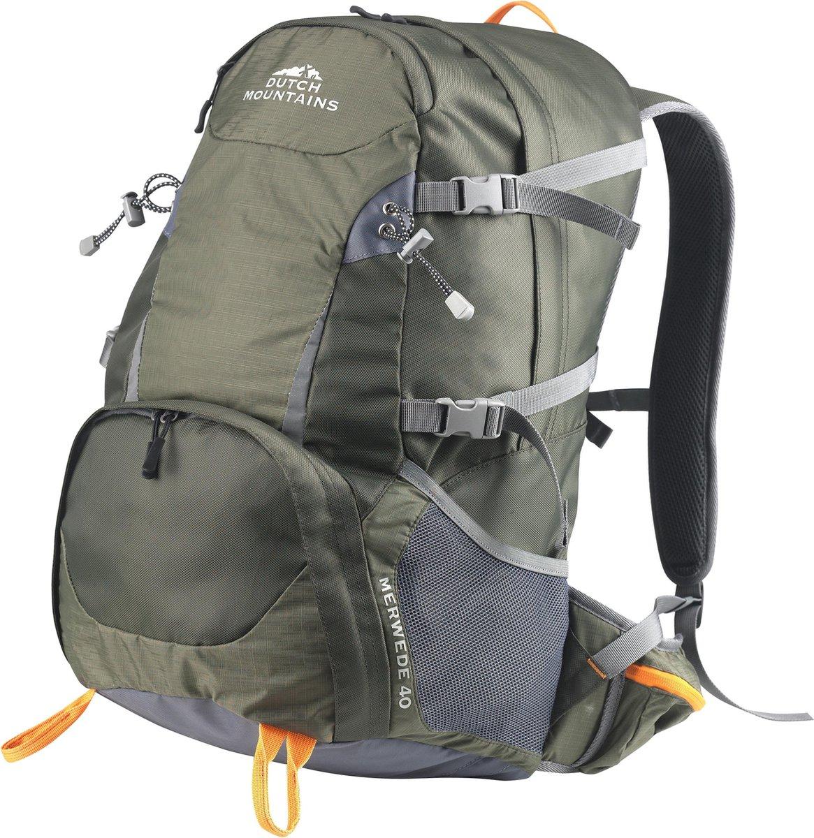 Dutch Mountains® 'Merwede' Backpack - Wandel Rugzak - Inclusief Regenhoes - 40 Liter - Groen