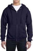 Russell Athletic DriPower Hooded Zippered Sweatshirt - Navy - Medium