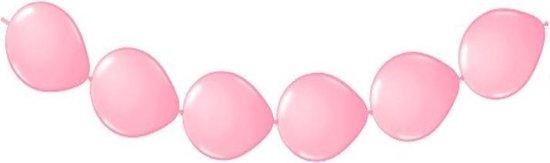 20 knoop ballonnen licht roze