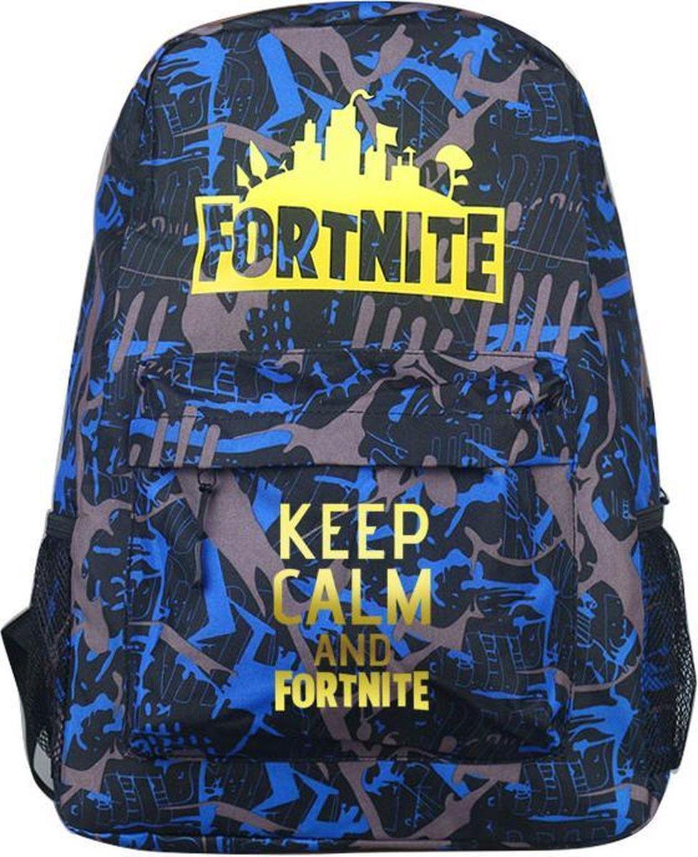 GoPa Fortnite Kinder Rugzak  18 liter   Bruin   Schooltas   Rugtas   Keep Calm and play Fortnite
