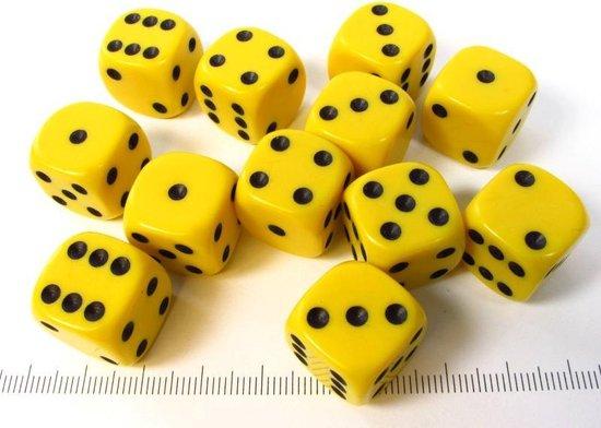 Afbeelding van het spel Chessex dobbelstenen set, 12 6-zijdig 16 mm, geel