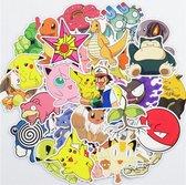100 Pokémon Stickers – Celvar – Watervast & UV Bestendig – 100 Verschillende Stickers – Hoge Kwaliteit Vinyl Stickers – 100 Coole Pokémon Stickers Mix - Voor Laptop, Telefoon, Skateboard, Koelkast, Koffer, Douche etc.
