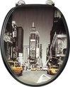 Allibert wc-bril NEW YORK - MDF -  verchroomde scharnieren - Decor